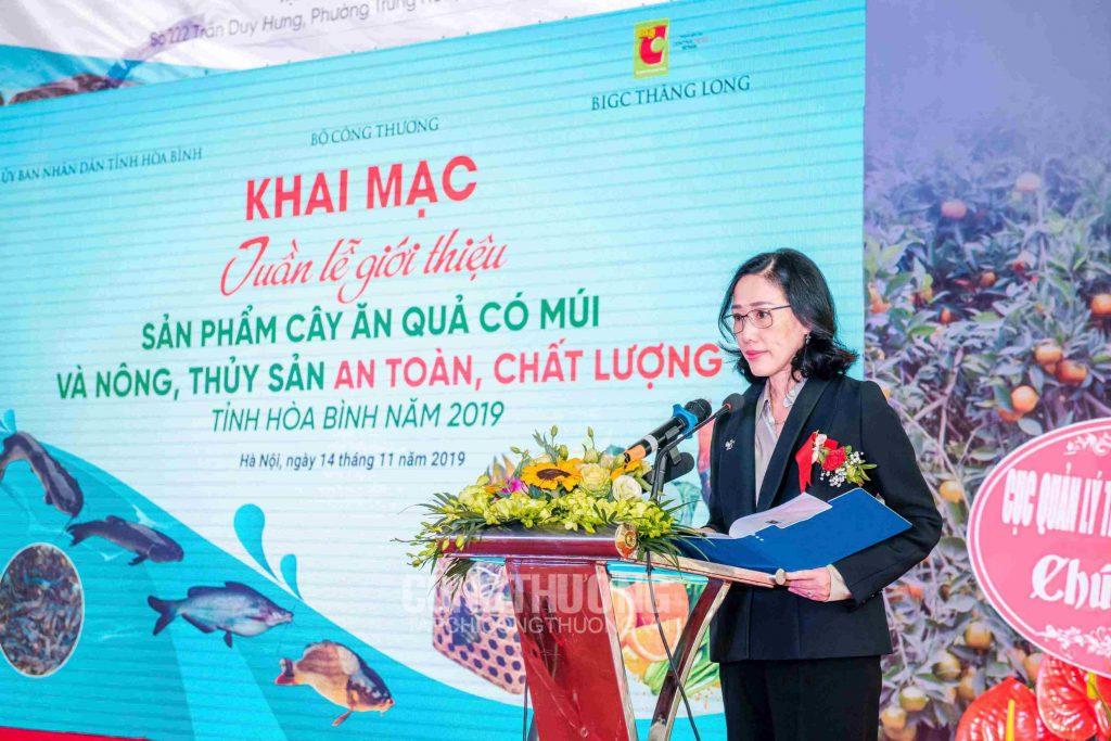 Bà Jariya Chirathivat - đại diện Central Retail Việt Nam phát biểu tại Lễ Khai mạc